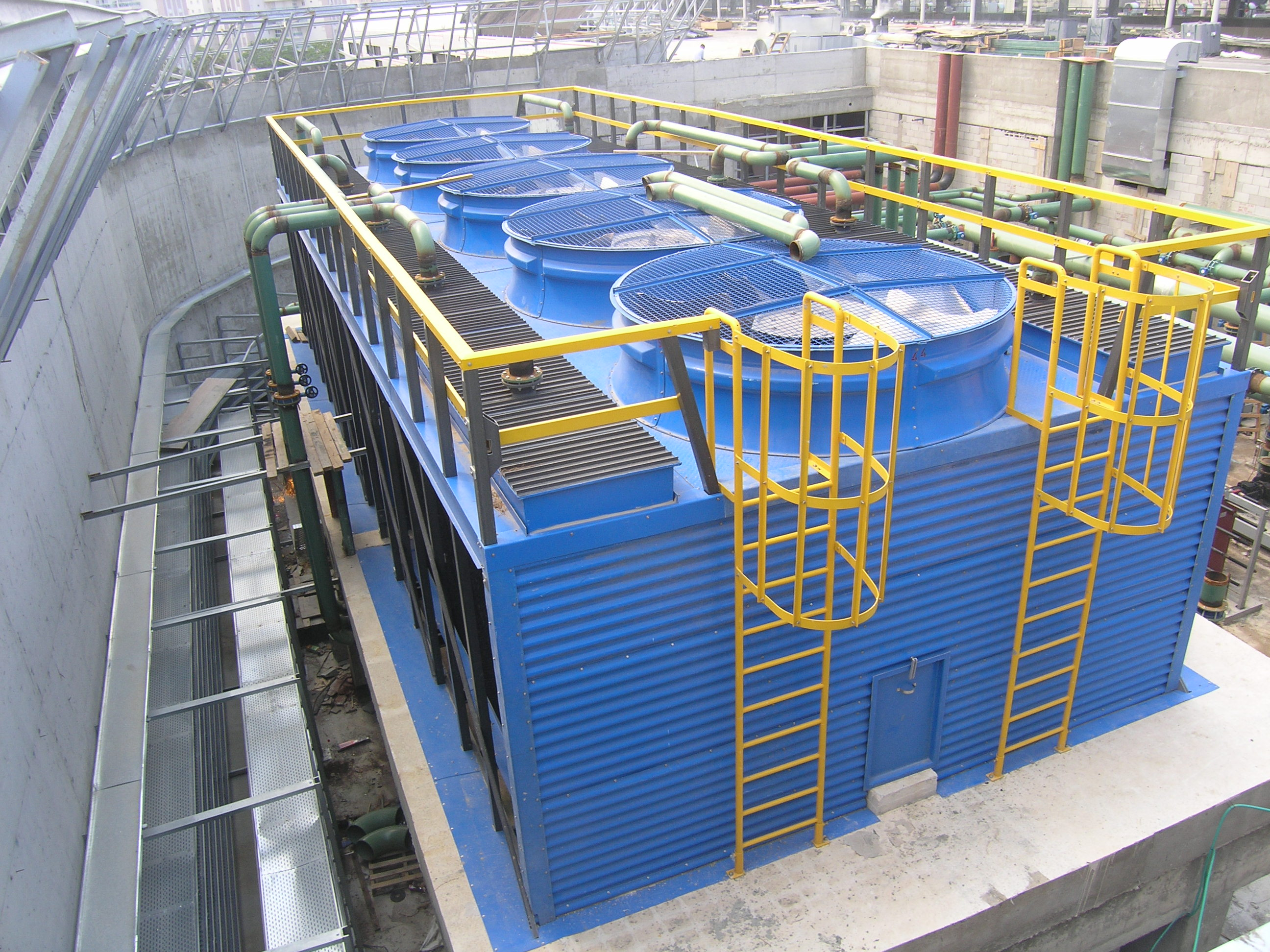 PULTRUDED FRP CROSS FLOW COOLING TOWERS