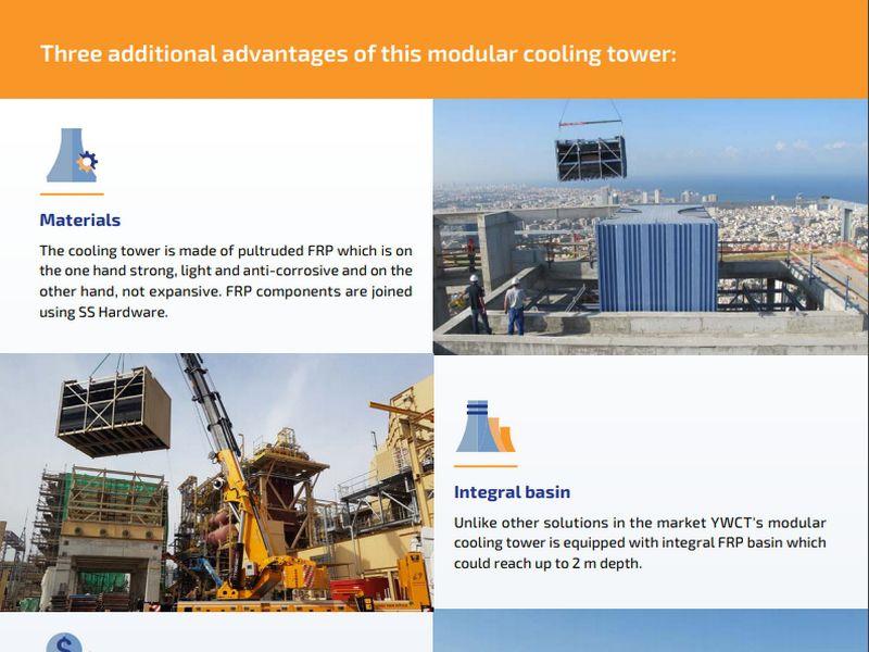 Kompozitní modulární chladící věže