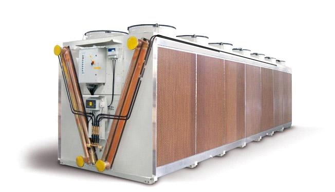 suchý a hybridní chladič